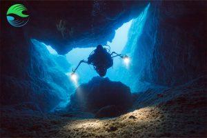 plongee aux acores grotte